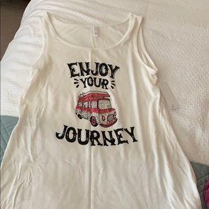 BRAND NEW Enjoy Your Journey Tank